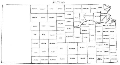 Sumner County Kansas Map.Map Ks 1867sm
