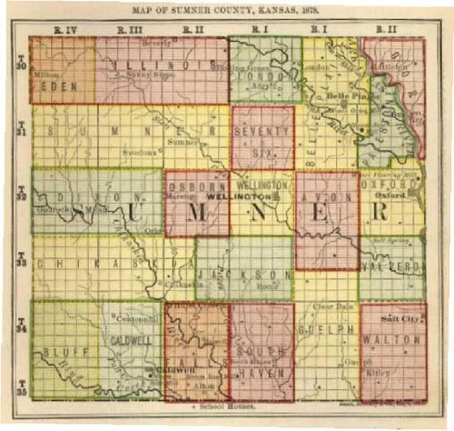 Sumner County Kansas Map.Viewing Album Maps